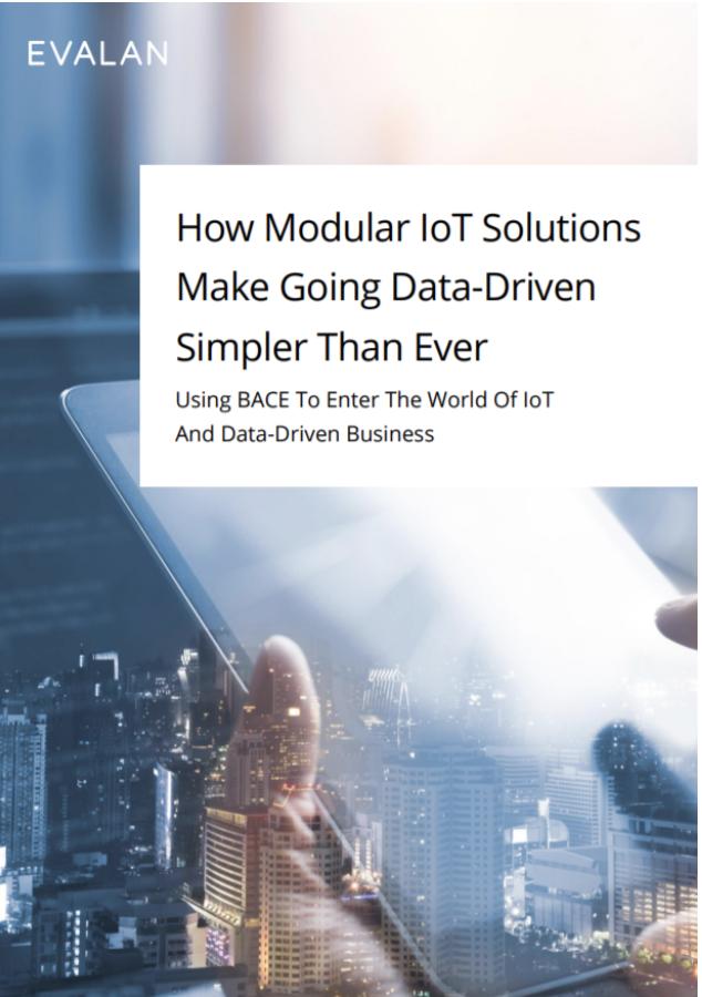 Cover of Evalan's 'Modular IoT Solutions' whitepaper