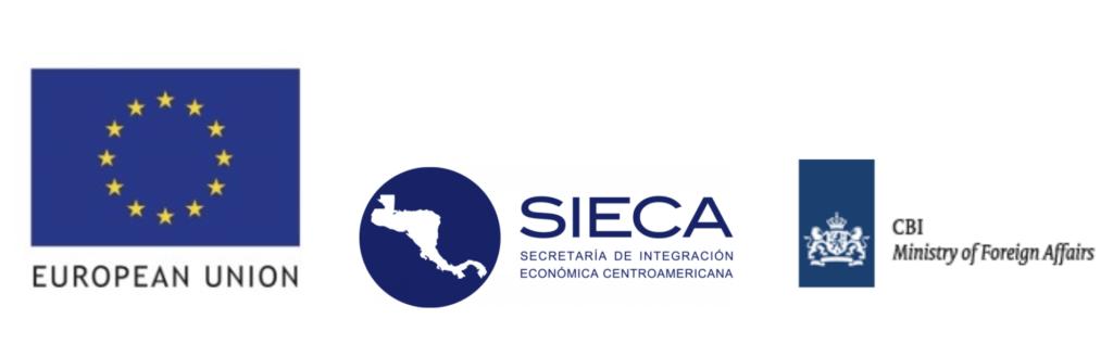 Logos of companies part of the initiative: EU, Sieca, CBI